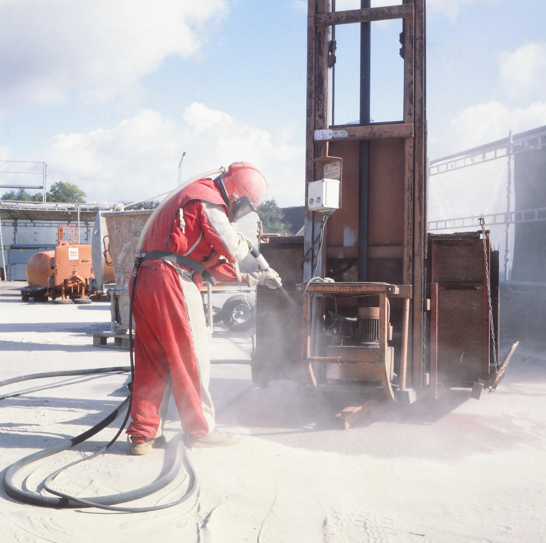 sandblæsning er en overfladebehandling af stål